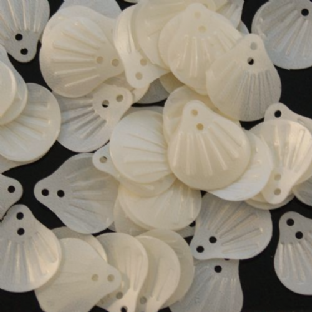 DISCONTINUED  Value Pack 50g Satin Pearl Embossed Shell Sequins.